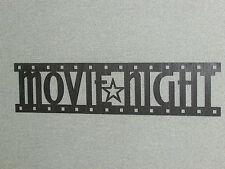 "Movie Night Film Strip Wood Wall Art Decor Sign 24"" wide"