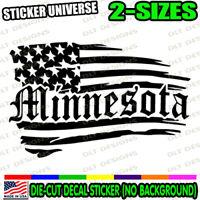 Minnesota Distressed Flag State Car Window Decal Bumper Sticker Patriotic 1125