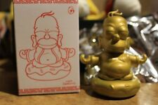"Kidrobot Exclusive Gold 3"" Vinyl The Simpsons Homer Donut Buddha Figure Sealed"