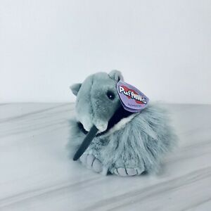 """Vintage 2000 Plush Anteater Swibco Puffkins  Antsy 4.5"""" With Tag"""