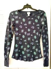MOSSIMO SUPPLY CO Womens Blue Shirt Sweater Blouse Top Size Small Long Sleeve