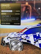 Titanium White Painted Draco Wheels Rocket League Xbox One