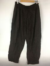 VTG 80s High Waist Harem Baggy Pants 34 Women Black w Orange Dots Grunge Taper