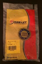 Ham-let 768L B 1/4 x 3/8 NPT Brass Male Connectors 3124965 - Package of 5!