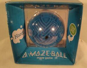 ThinkGeek A-Maze-Ball Puzzle 3D Ball / Maze Game - Level HARD / Blue