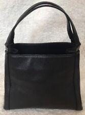 "Black Calvin Klein Leather 9"" x 7"" Handbag/Purse Great Condition"