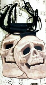 BUNTING 4metres HALLOWEEN SKULLS Double Sided BNWT GOTHIC HOME DECOR KITSCH RARE