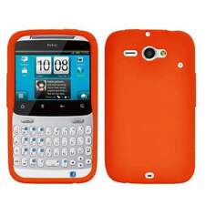 AMZER Silicone Skin Jelly Case Cover For HTC ChaCha /Status - Orange