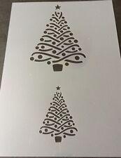 Christmas Tree  Mylar Reusable Stencil Airbrush Painting Art Craft DIY