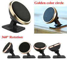 Car Vehicle Magnetic 360° Rotation Phone Holder Magnet Mount Stand Golden Circle