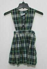 Vintage Girls size 4 Dennis school uniform dress sleeveless side cutout zip G4
