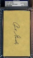 Curt Gowdy Signed Psa/dna 3x5 Index Card Certified Autograph Authentic