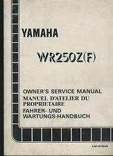 (21A) REVUE TECHNIQUE MANUEL ATELIER YAMAHA WR250Z (F)