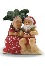 Hawaiian SERENADING SANTA + MRS. CLAUS X'MAS ORNAMENT New NIB  Strumming Ukulele