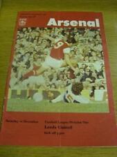10/12/1977 Arsenal V Leeds United (Jeton Missing, Fold