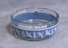 Caesars Palace Blue White Ring Glass Ashtray