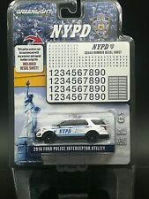 1:64 Greenlight 2016 Ford Police Interceptor Utility NYPD Diecast Car Model