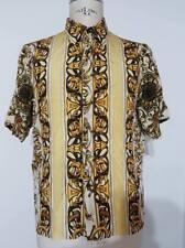 GIANNI VERSACE camicia barocco 80's silk seta vintage archive chemise hemd rare
