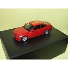 """BMW SERIE 3 COUPE E90 Rouge PRIX """" GELBER ENGEL """" 2007 MINICHAMPS 1:43"""