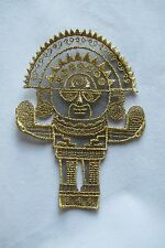 #2862 Pre-Coumbian Inca Tumi / Timu ceremonial Embroidery Iron On Applique Patch