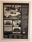 1972 Lotus Europa Twin Cam Ad  - Must See !!