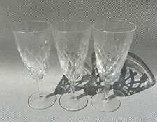 Pack of 3 antique flutes Champagne crystal years 50 french wine glasses