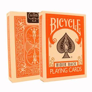 Orange Bicycle Cards - Orange Bicycle Deck - Rider Back USA Made - Poker Size