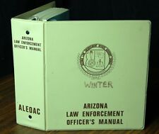 Arizona Law Enforcement Officer's Manual 1979 Police Training Criminal SCARCE