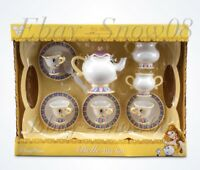 Disney Parks Belle Tea Set Dishes Mrs Potts Chip Beauty and Beast with Sound NEW