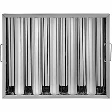 """6 Pack 20"""" x 16"""" Hood Grease Exhaust Filter Baffle Stainless Steel 5 Slots"""