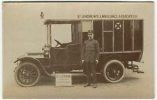 More details for  st andrew's ambulance association lawrie coachbuilder paisley postcard (p1370)