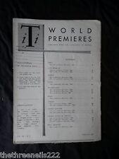 INTERNATIONAL THEATRE INSTITUTE WORLD PREMIER - FEB 1961 VOL 12 #5