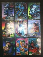 1995 Marvel Masterpieces Emotion Gold Signature Series LOT X9 Mint PSA Ready
