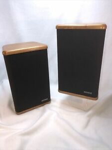 Vintage Advent Mini Advent Bookshelf Pair of Loud Speakers Hardwood Tested GUC