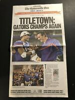2007 Gainesville Sun FLORIDA GATORS vs Ohio State National Champions URBAN MEYER