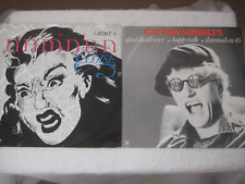"""THE DAMNED / CAPTAIN SENSIBLE x2 12"""" LOT  ELOISE BLUE VINYL / GLAD IT'S ALL OVER"""