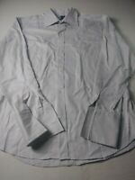 Eton Mens Dress Shirt Size 17 1/2 44 Gray French Cuff Button Front 100% Cotton
