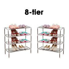 8 livelli regolabile in metallo Scarpe Scaffale Rack Stand Titolare Organizer Storage Boot