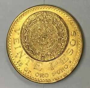 1918 Mexico 20 pesos gold coin - AZTEC MAYAN ART - Gorgeous Coin! 👀