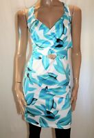 Unbranded Blue White Cross Front Fitted Day Dress Size M/L BNWT #SK110