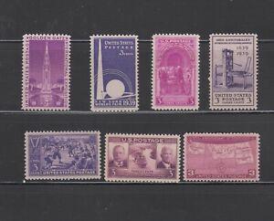 US,852-858,MNH ,VF,1939 COMPLETE SET,MINT NH