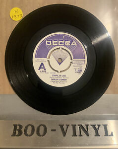 "DEMO - Shirley And Johnny ‎– Chapel Of Love Vinyl 7""  F 13684 1977 Ex Con"