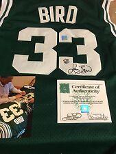 Autographed Larry Bird Boston celtics jersey SSG cert an bird hologram few left