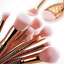 16 Pc Professional Makeup Blending Brushes High Quality Cosmetic Mermaid Set 21