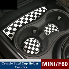 Soft Silicone Console Box Cup Holder Coasters For MINI Cooper F60 Countryman