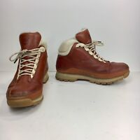 Timberland ACT Women's 6 M Orange Brown Cream Leather Hiking Boots