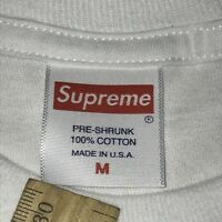 Supreme Box Logo Short Sleeve Shirt Medium Kmart Blank Bogo Authentic White