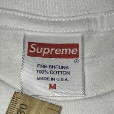 Supreme Box Logo Short Sleeve Shirt Medium Kmart Blank Bogo Authentic White