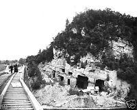 1888 Photo of Railroad Bridge in Rosendale, New York and Joppenbergh Mountain