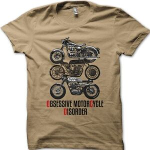 Biker Obsessive Motorcycle Disorder Cafe Racer funny printed t-shirt 9049